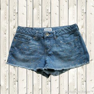 Aeropostale Embellished Denim Booty Shorts